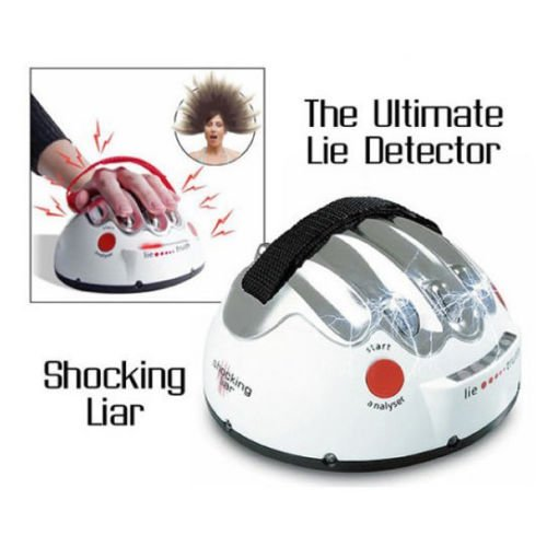 ZJchao Adjustable Electric Shock Lie Detector Polygraph Adult Game Truth Shocking Liar
