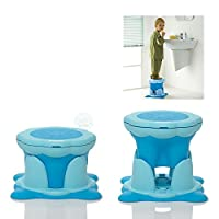 Kids Kit Kinderschemel Hocker Kindersitz zum Toilettentraining Trittbank für Kinder blau