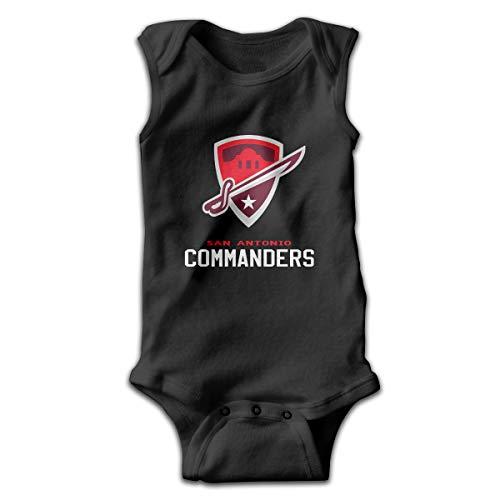 HSWQQ San-Antonio Commanders Tshirt Texas Baby Sleeveless Bodysuit 6M Black