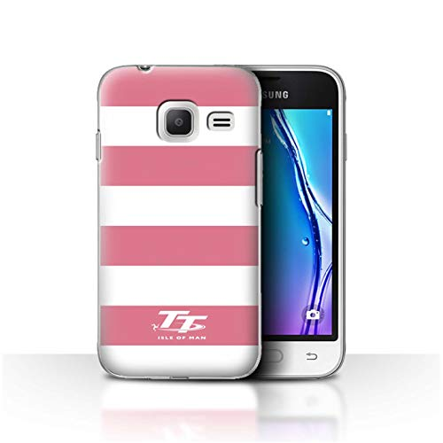 Official Isle of Man TT Phone Case/Cover for Samsung Galaxy J1 Nxt/Mini/Pink Zebra Design/Elegance Collection