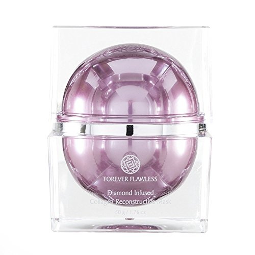 Forever Flawless Diamond Infused Collagen Reconstructive Mask with 100 Natural Diamond Infused Powder, Collagen Mask, Facial Mask, Anti Wrinkle Anti Aging FF33, 1.76 oz