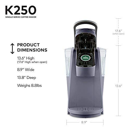 Keurig K250 Single Serve K-Cup Pod Coffee Maker with Strength Control Plum Grey Plum Grey by Keurig (Image #9)