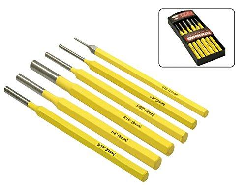 6-teiliges Splintentreiber Set 1, 5 mm - 8 mm aus Chrom-Vanadium-Stahl MS Warenvertrieb
