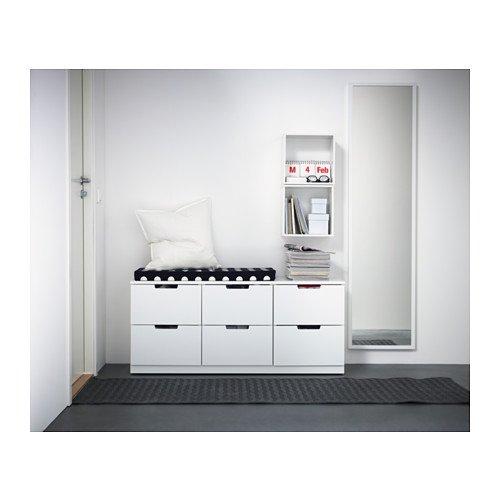 IKEA Nordli - Cómoda de 6 cajones, blanco - 120x52 cm ...