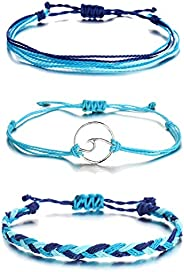 Long tiantian Vsco Bracelets Ocean Wave Bracelet Adjustable Waterproof Handmade Strand Braided Rope Summer Sun