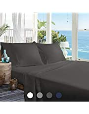 BedStory Bed Sheets Set, Luxury Hotel Quality Queen 4-Piece Bed Sheets Set with Deep Pockets, Hypoallergenic Super Soft Brushed Microfiber Bedding Sheets-Wrinkle/Fade/Stain Resistant