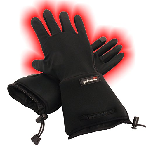 Battery Heated Universal Touchscreen Glove Liners, up to 6 hours of warmth at one recharge - improved 2014 model with free battery extention cable and free storage case - Glovii by Glovii (Image #7)
