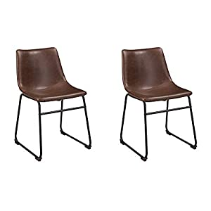 Signature Design by Ashley Centiar Dining Chair Set of 2, Black and Brown