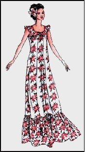 Sleeveless Hawaiian Muumuu Dress Sewing Pattern #105 ()