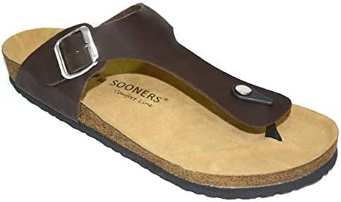 SOONERS Thong Slippers For Men Size 41 EU, Brown