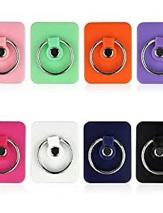 AA&BB Ring Phone Stand Holder Accessories 360degree Rotation For iPhone Android Wholesale and Retail (Assorted Colors) , orange