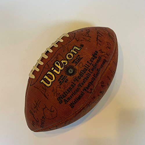 1994 New Orleans Saints Team Signed Game Used NFL Wilson -