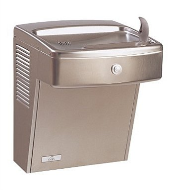 (Oasis PGV8AC Refrigerated Drinking Fountain, Vandal Resistant, Energy/Water Efficient, Front Push Button, Flex Guard Bubbler, ADA, 8 GPH)