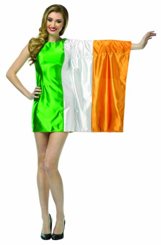 Rasta Imposta Flag Dress Ireland Costume, Green/White/Orange, Adult 4-10]()