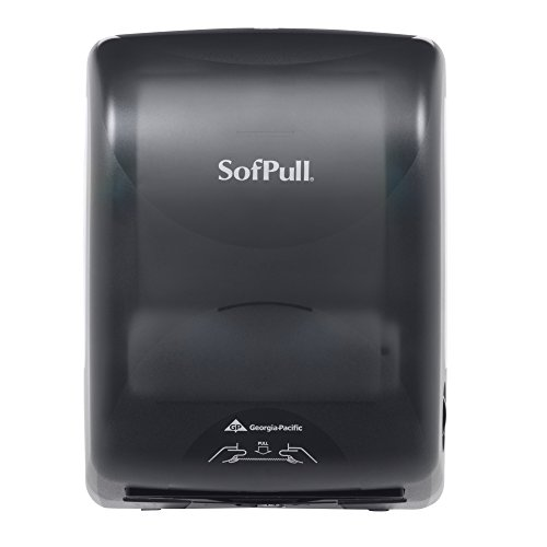 Georgia-Pacific SofPull 59489 Translucent Smoke Mechanical Hardwound Roll Towel Dispenser (WxDxH) 12.600