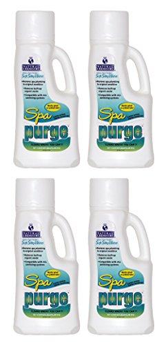 Natural Chemistry Spa Purge Spa Plumbing Cleaner - 4 x 1 Liters