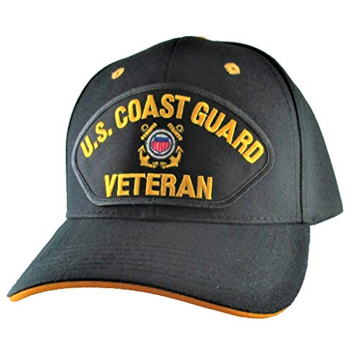 AffinityAddOns Coast Guard Veteran Ball Cap for Men, Military Patch Baseball Hat