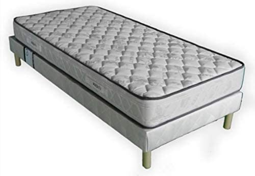 Juego de somier + colchón 20 cm 90 x 190 cm (1 persona) + 4 patas