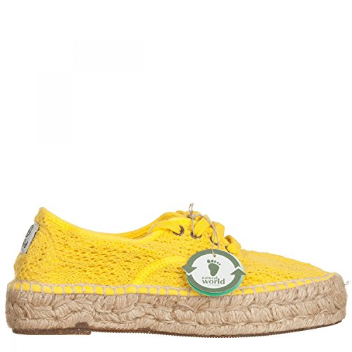 41 Femme Jaune Natural World 686 Pour Espadrilles 504am 41 Nw 8nz8q0U1w6