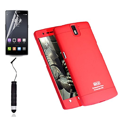 Bessky(TM) 2015 New Film + Stylus + Armor HARD Back CASE Cover COVER For Oneplus A0001 (Red)