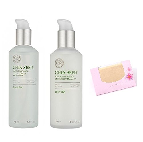 The Face Shop Chia Seed Watery Set,  SoltreeBundle Natural H