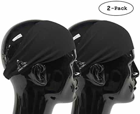 Temple Tape Headbands for Men and Women - Mens Sweatband & Sports Headband Moisture Wicking Workout Sweatbands for Running, Cross Training, Yoga and Bike Helmet Friendly