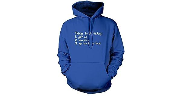 Cosas que hacer hoy - moda Hipster Tumblr - niños sudadera con capucha: Amazon.es: Ropa y accesorios