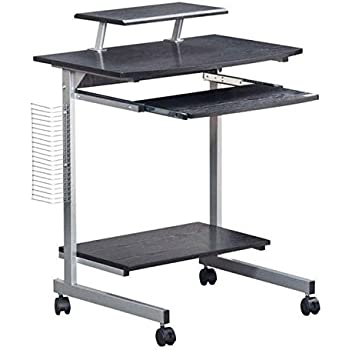 Compact Computer Cart With Storage - 2 colors available