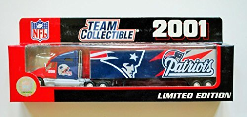 Fleer 2001 LIMITED EDITION NFL Team Collectible 1:80 Scale Diecast Kenworth Tractor Trailer NEW ENGLAND PATRIOTS