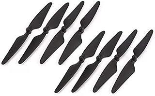 BFHCVDF 4 Pair Propeller CW/CCW Blade for Hubsan H501S H501C H501A H501M RC Drone Black