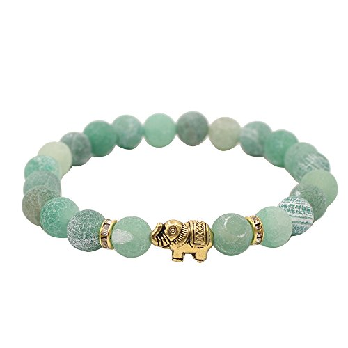 KSQS Lover Couple Bracelet Yoga Balancing Reiki Healing with Elephant for Christmas Thanksgiving