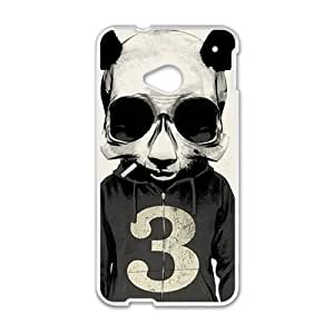 Personalized Creative Cell Phone Case For HTC M7,fancy man with animal headgear