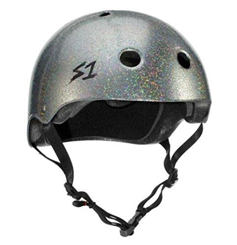 S1 Mega Lifer Helmet - Silver Gloss Glitter (Medium 23.5