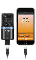 IK Multimedia iRig Mic Studio digital studio microphone for iPhone, iPad, Android and Mac/PC (black)