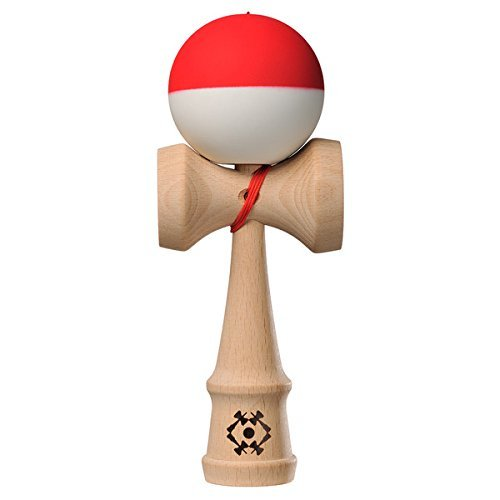 Kendama USA - Tribute - Half Split Silk Kendamas - Great for Beginners - Extras Included - Red White Pokeball