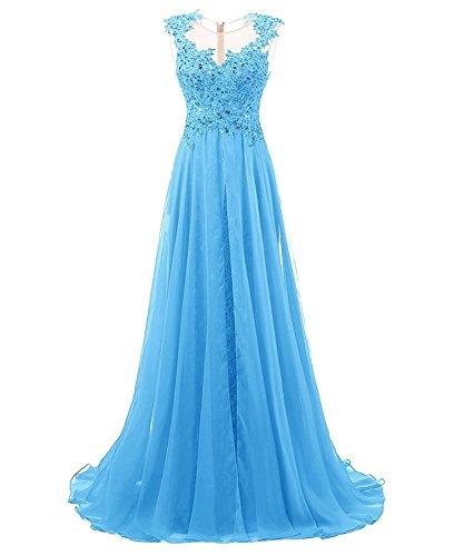 Sin para mangas Azul Carnivalprom mujer trapecio Vestido pwgEqH7