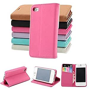 TOPQQ ships in 48 hours Pashm PU Leather Full Body Case with Stand and Card Slot for iPhone 4/4S (Assorted Colors) , Brown