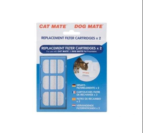Lot de 2 filtres de rechange Pet Mate pour fontaines