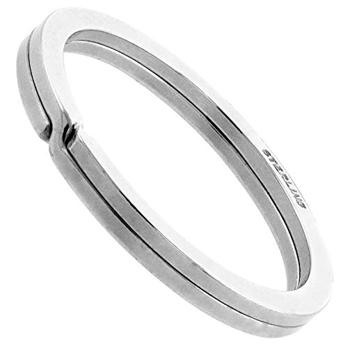 Sterling Silver Split Ring Key Ring 33mm (1 1/4 inch)
