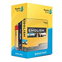 Learn English: Rosetta Stone Bonus Pack ( Online Access + Book Set)