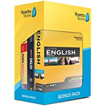 Learn English: Rosetta Stone Bonus Pack (Lifetime Online Access + Book Set)