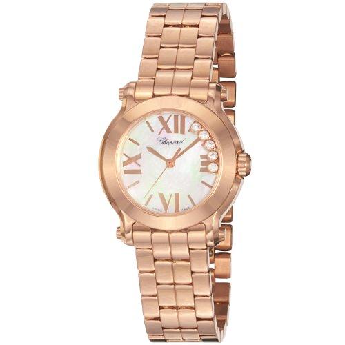 - Chopard Women's 274189-5003 Happy Sport Round Analog Display Swiss Quartz Pink Watch