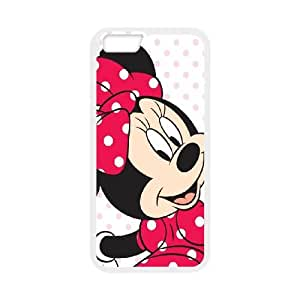 iPhone 6 4.7 Inch Cell Phone Case White Mickey and Minnie R5E3M