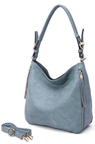 MKF Collection Orton Hobo Handbag (Denim Blue)