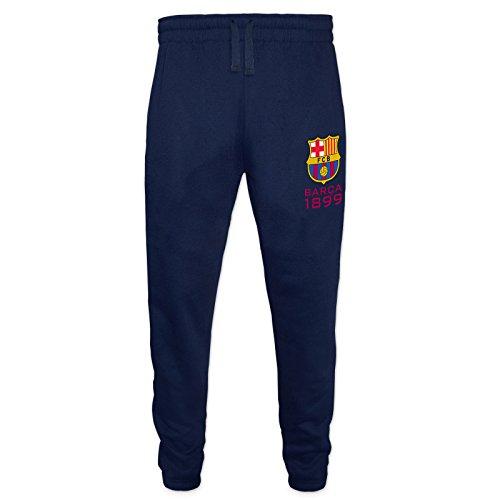 FC Barcelona Official Gift Mens Slim Fit Fleece Joggers Jog Pants Navy XXL (Fleece Pants Jog)