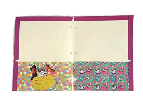 Shopkins Bundle of 4 School Portfolio Folders (2-Pocket) by Shopkins (Image #5)