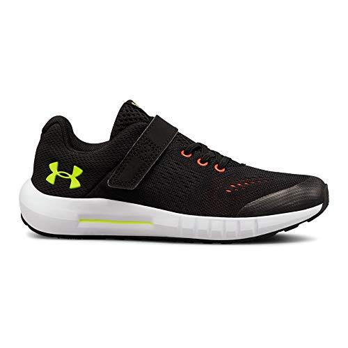 - Under Armour Boys' Pre School Pursuit Alternate Closure Sneaker, Black (002)/White, 2.5