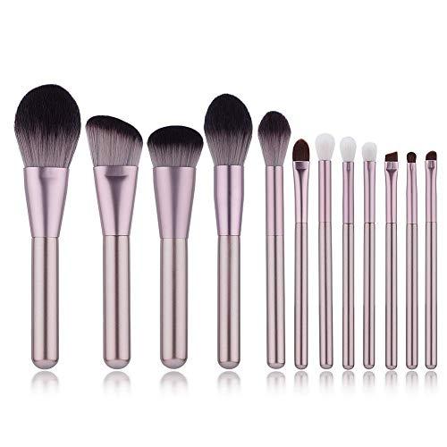 (Yoseng Professional 12 Pieces Makeup Brush Set Premium Synthetic Kabuki Foundation Blending Blush Concealer Eye Face Liquid Powder Cream Cosmetics Brushes)