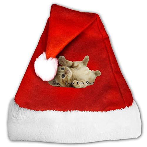 Ginger Cat 'Love You Dad' Red Velvet Santa