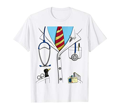Funny Doctor Costume Lab Coat Uniform Halloween T-Shirt ()